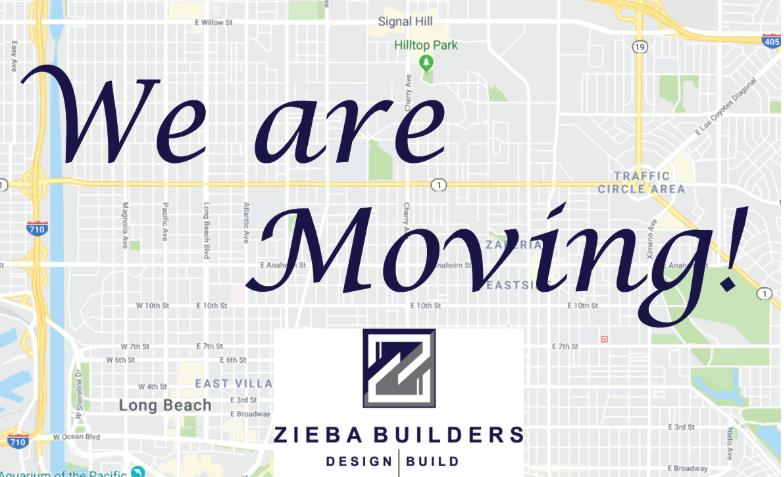 Zieba Builders is Moving!